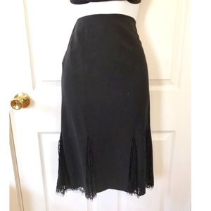 NWOT Bebe Mermaid Style Pleated Midi Skirt